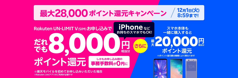 楽天モバイルでiPhone12/Proを使っても8000ポイント還元。ただしauローミングになると楽天電波に自動切り替え不可。