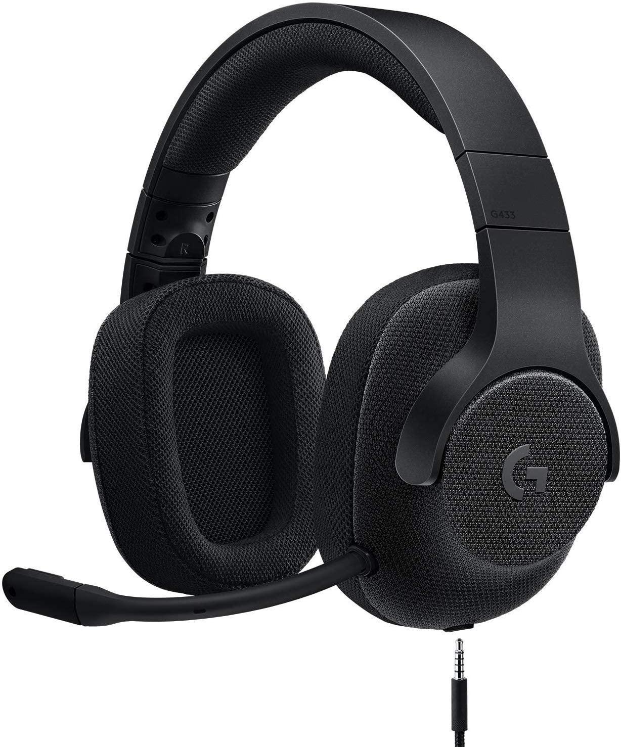 アマゾンでなぜか価格コムで酷評されているLogicool G ゲーミングヘッドセット 有線 G433BKがセール中。