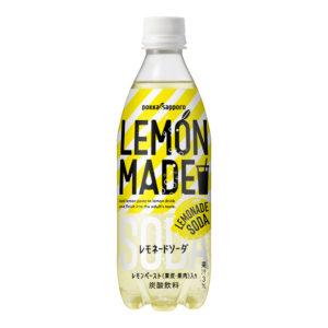 アマゾンでポッカサッポロ LEMON MADE レモネードソーダ 500ml ×24本が4割引。