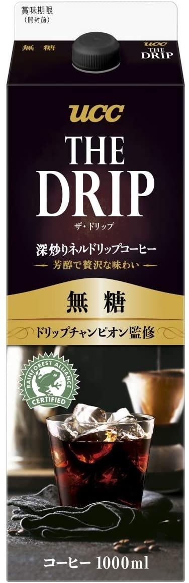アマゾンでUCC The DRIP 無糖 GT 1000ml ×12本が半額。