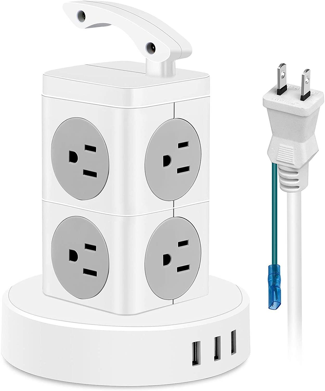 アマゾンでFDTEK タワー電源タップ 8AC充電口+USB3ポートがセール中。PSEマークは一応あるけど。