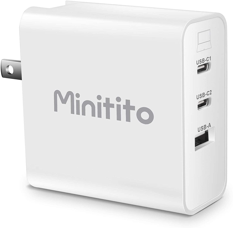 アマゾンでMinitito 65W USB-PD充電器が1549円。