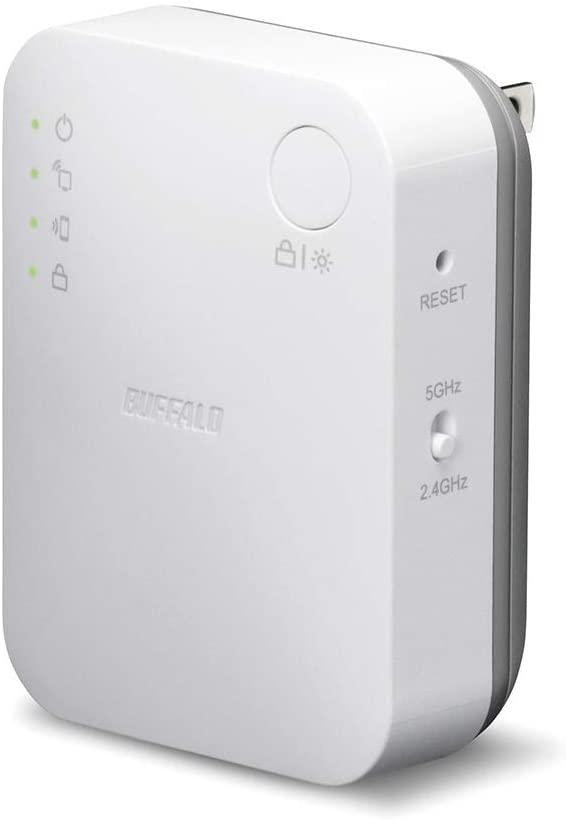 アマゾンでBUFFALO WiFi 無線LAN 中継機 WEX-733DHP/Nが価格コムより激安。家の窓際でテレワークさせられるおじさんに。