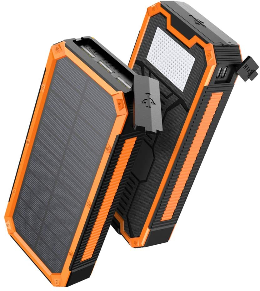 アマゾンでAngeek モバイルバッテリー ソーラーチャージャー 30000mAhが55%OFF。