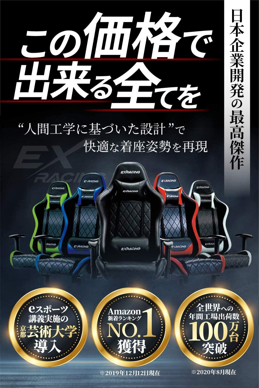 アマゾンでEXRACING ゲーミングチェアが3000円引きクーポンを配信中。