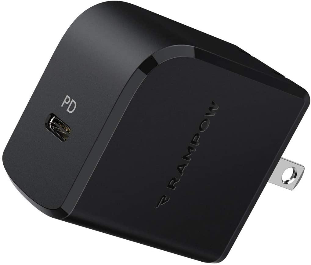 アマゾンでRampow USB-PD充電器 18Wが760円となる割引クーポンを配信中。