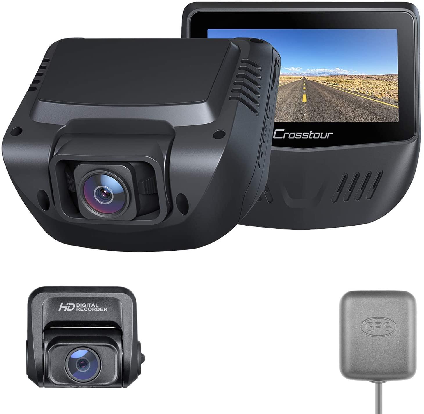 アマゾンで Crosstour ドライブレコーダー 前後カメラが割引クーポンを配信中。安物のNovatekのSoCを搭載。