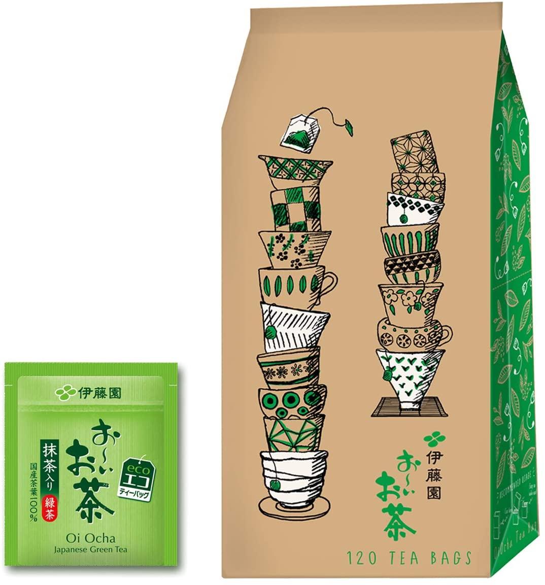 アマゾンで伊藤園 エコティーバッグ おーいお茶 緑茶 (抹茶入り) 1.8g×120袋が5割引。