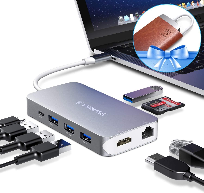 アマゾンでUSB type-C ハブ VANMASS USB3.0 HUB HDMI対応の割引クーポンを配信中。