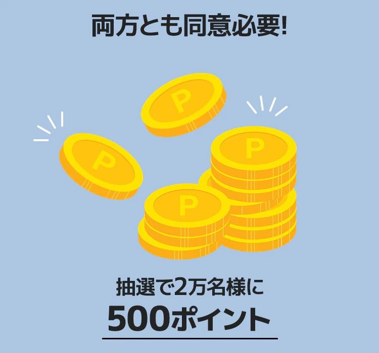 Qoo10で500ポイントが抽選で2万名に当たる。~5/31。