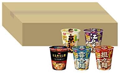 アマゾンで日清食品 とんがらし麺 & こだわり素材シリーズ セット 5種 20個が3割引。1個102円で安いけど飽きる。