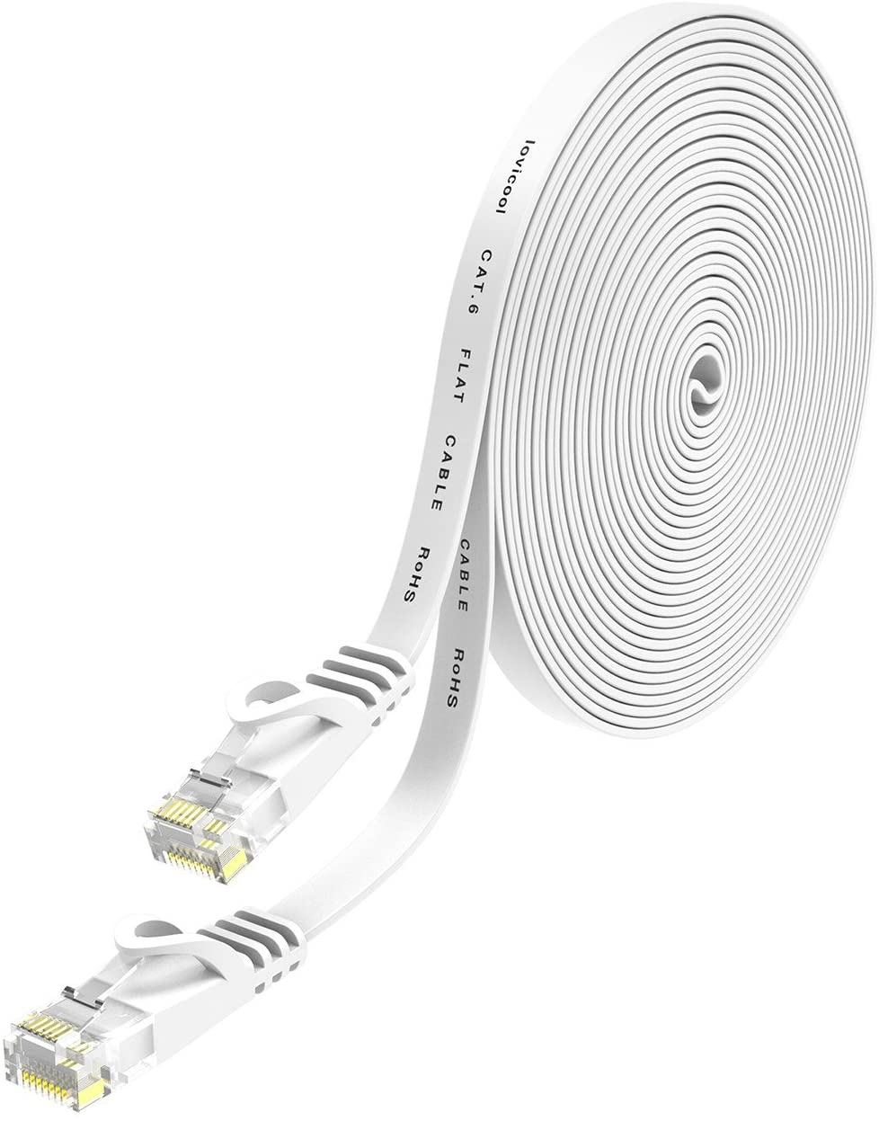 アマゾンでlovicool LANケーブル CAT6準拠 10mが528円。ケーブルにCAT6と書いてあるので数年後に捨てやすい。