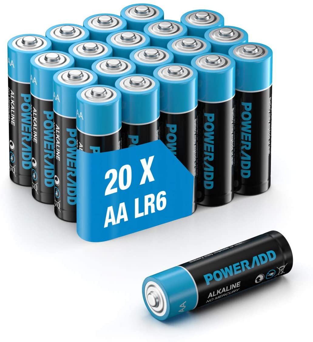 アマゾンでダイソーより安いPOWERADD 単3形+単4形乾電池がセール中。性能は不明。