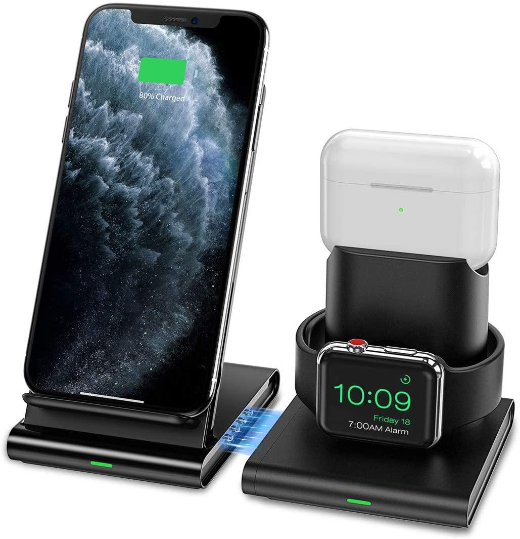 アマゾンでApple Watch、AirPods、iPhoneを同時充電可能なSeneo ワイヤレス充電器 3 in 1が999円。