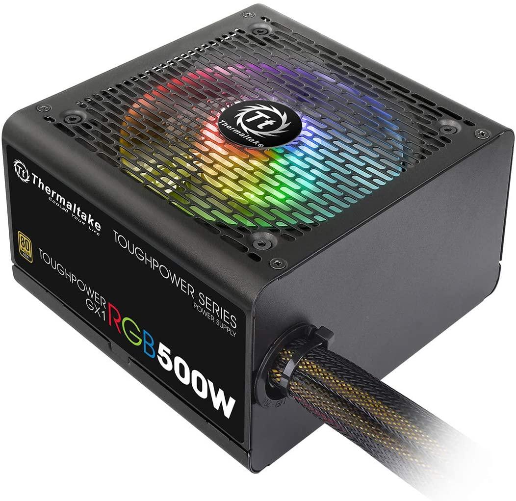 アマゾンで光るPC用電源Thermaltake TOUGHPOWER GX1 RGB 500W -GOLD-が2割引。