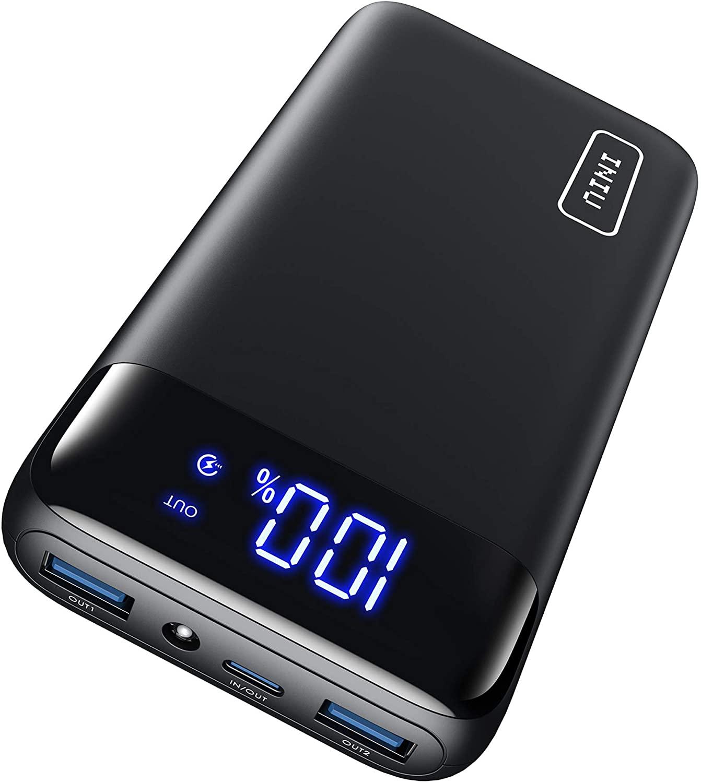 アマゾンでINIU モバイルバッテリー 20000mAh 20W PD3.0 QC4.0 LED付きが1699円というなかなかのコスパ。