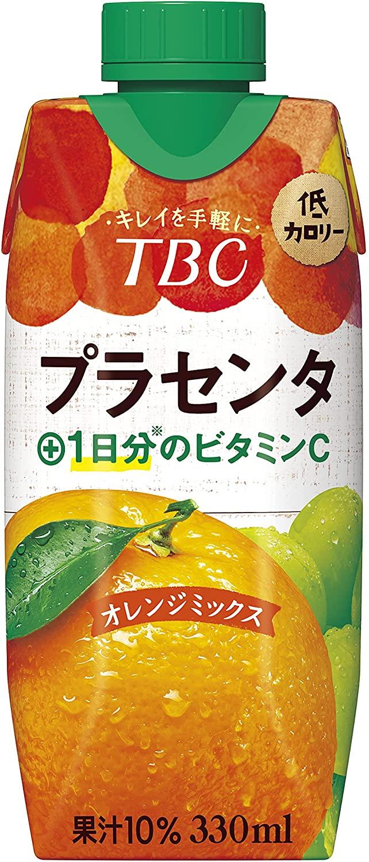アマゾンで森永 TBC プラセンタ+ビタミンC オレンジミックス 330ml が半額。プラセンタって胎盤だからね。