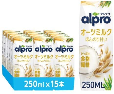 アマゾンでオーツミルクのALPRO(アルプロ)が2割引。実は炭水化物まみれでタンパク質少なすぎ。なんで健康に良さそうな顔して売られているの。