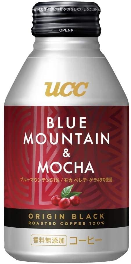 楽天でUCC ORIGIN BLACK ブルーマウンテン&モカ(275g*24本入)がポイント40%バック。~明日10時。