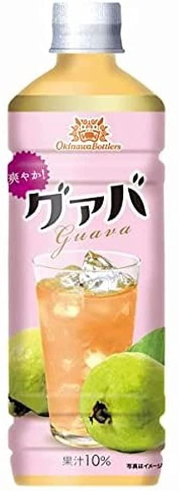 アマゾンで沖縄ボトラーズグァバ 果汁10% PETが半額、1本66円。