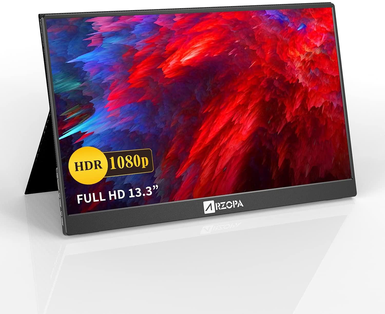 【買ったぞ!】アマゾンでARZOPA 13.3インチ 1920*1080FHD 薄型モバイルモニタの割引クーポンを配信中。