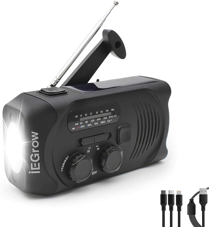 アマゾンでiEGrow 防災ラジオ が599円。