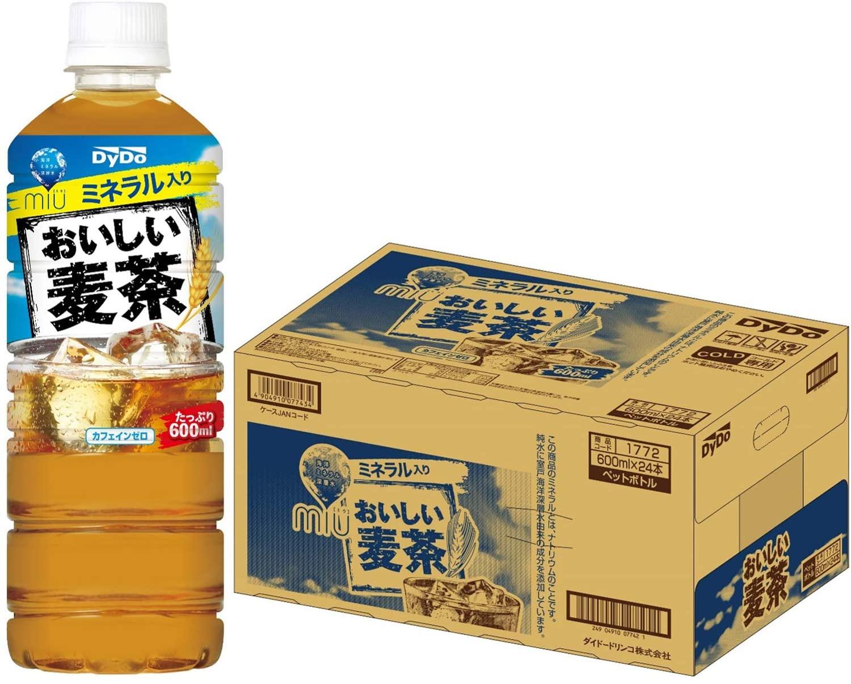 アマゾンでダイドー おいしい麦茶 600ml ×24本がセール中。