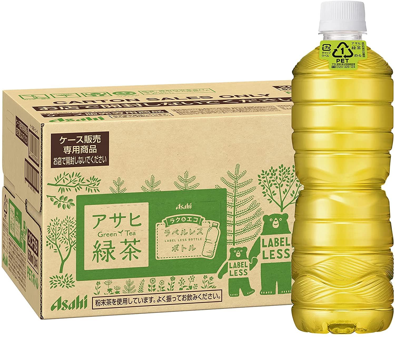楽天でアサヒ 緑茶 ラベルレスボトル(630ml*24本入)がポイント40%。