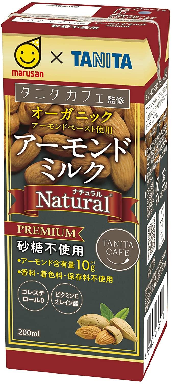 アマゾンでマルサン タニタカフェ監修アーモンドミルクナチュラル 200ml×24本が半額。