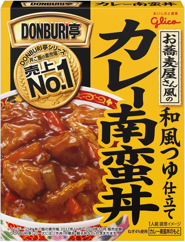 アマゾンで江崎グリコ DONBURI亭 お蕎麦屋さん風のカレー南蛮丼 165g ×10個が3割引。