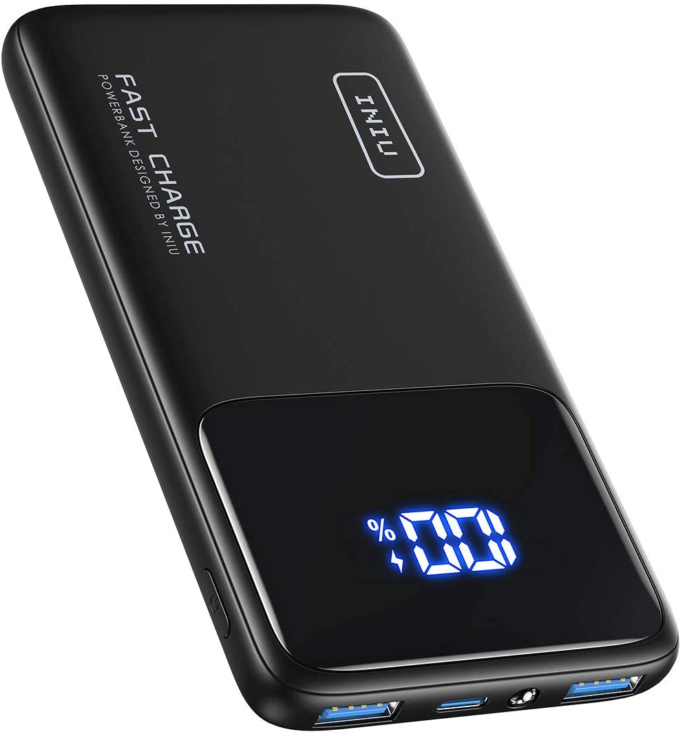 アマゾンでINIU モバイルバッテリー 10500mAh USB-PD対応が979円。