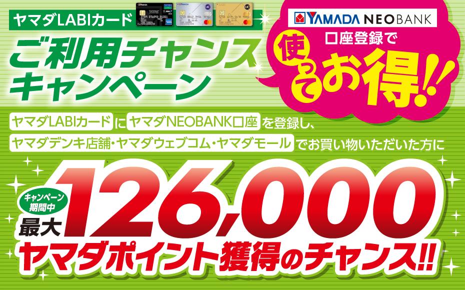 ヤマダまみれになって買い物をしまくると、126000ポイントが当たる。~2022/2/28。